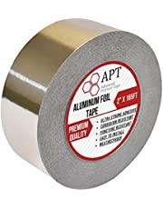 """APT Heavy Duty Professional Grade Aluminum Foil Tape, 3.6 Mil, (2"""" x 165FT) Silver, Perfect for Sealing & Patching, HVAC, Duct, Pipe, Insulation, Moisture Barrier, Foam Sheathing Boards, Metal Repair"""