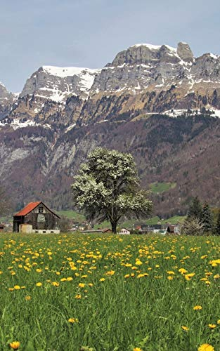 Notebook: The Alps dandelion field panorama village plants spring Wild Pages Press