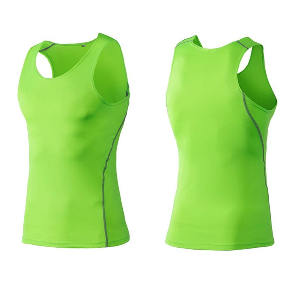 Bornbayb Maglietta Muscolare Senza Maniche Cool Dry da Uomo Maglietta da Sport Slim Attillata da umidit/à Traspirante