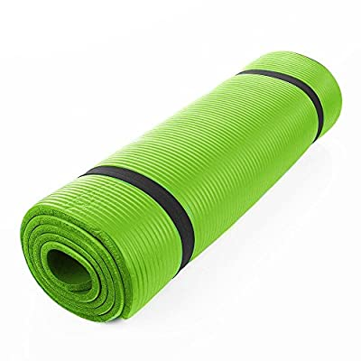 """Extra durable 72240.4"""" Yoga Mat 10 mm Thick non slip Pad Exercise Fitness(Green)"""