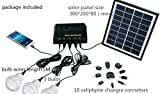 Best to Buy 5W anel Solar Home System Kit - Including Cell Phone Charger - 3 Strong LED Lights,Portable Solar Charger with LED Light Bulb Flashlight as Emergency Light/ Garage Cabin RV Wireless Lighting System/ Camping Trekking Search & Rescue Remote Ligh