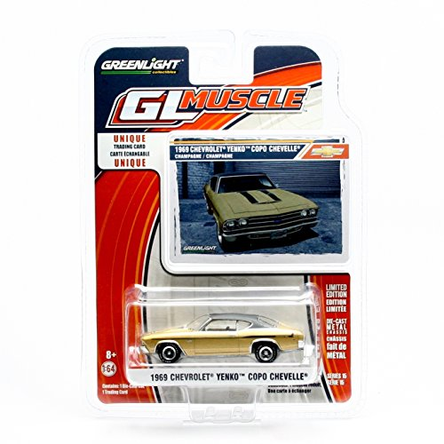 Muscle Series (1969 CHEVROLET YENKO COPO CHEVELLE (Champagne) * GL Muscle Series 15 * Greenlight Collectibles 2016 Limited Edition 1:64 Scale Die-Cast Vehicle & Collector Trading Card)