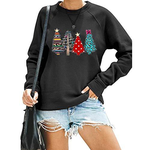 Amlaiworld Women Plus Size Christmas Sweatshirt Pullover Ugly Christmas Sweater Novelty Sweatshirt