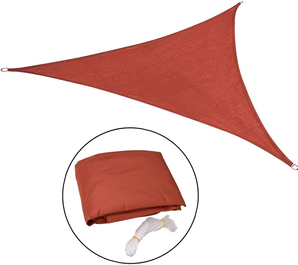 protezione dai raggi UV Tenda parasole impermeabile cortile. LouisaYork 8x8x8ft giardino Oxford con corda per estate triangolo o quadrato color crema Grey-2.5x2.5m spiaggia