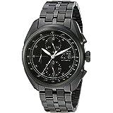 Bulova Accu Swiss Men's 65C116 Analog Display Mechanical Hand Wind Black Watch