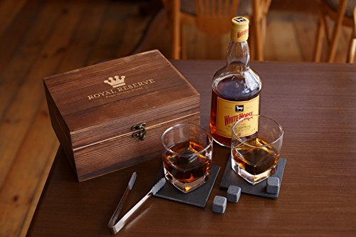 Whiskey Stones Gift Set by Royal Reserve   Husband Birthday Gifts Artisan Crafted Chilling Rocks Scotch Bourbon Glasses and Slate Table Coasters – Gift for Men Dad Boyfriend Anniversary or Retirement by Royal Reserve (Image #8)