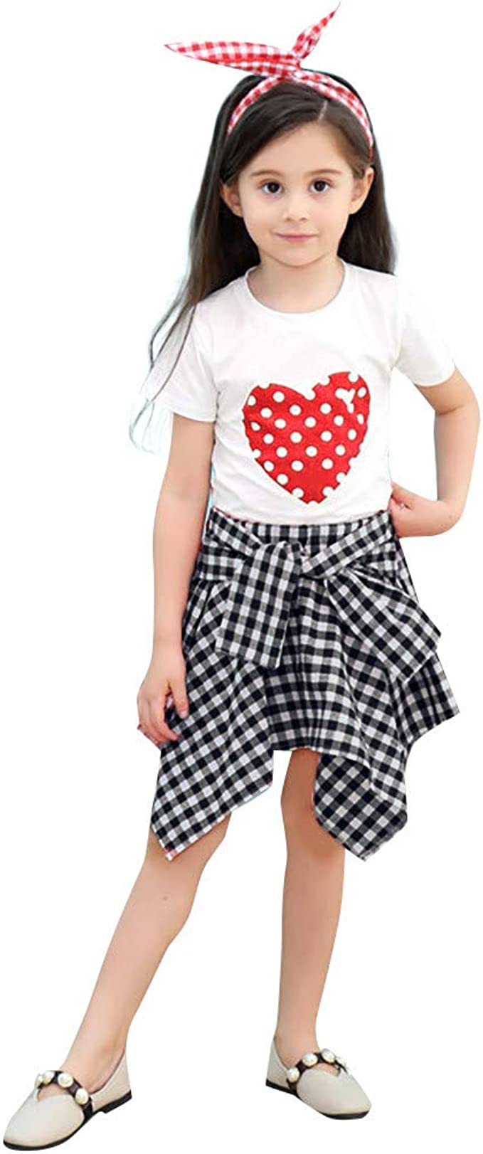2pc Kids Baby Girls Long Sleeve Shirt Tops+Long Pants Skirt Dress Outfit Clothes
