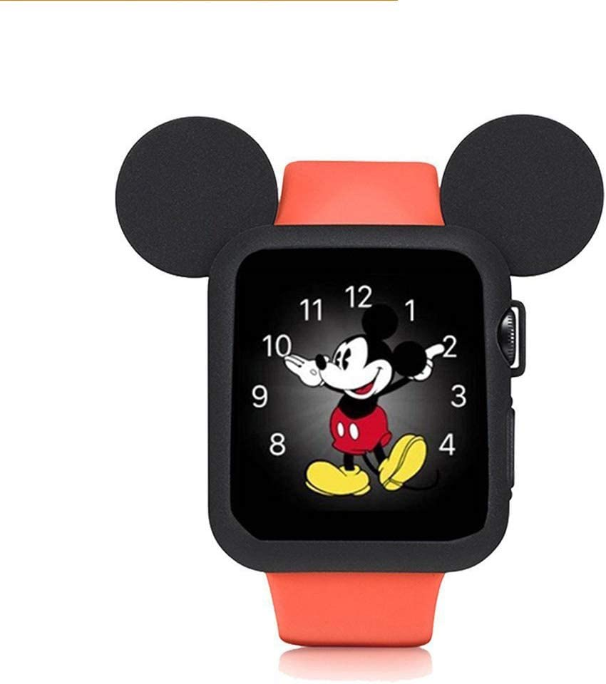 pipigo iWatch Case 42MM Series 3/Series 2/Series 1 Sport/Edition/Nike Soft Silicone Protective Cover for Cartoon Mouse Ears Apple Watch Case