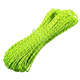 ThreeBulls 1.8mm Fluorescent Reflective Guyline Tent Rope Camping Cord Paracord 65 Feet (Green, 20m)