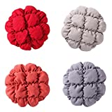 Homyl 4Pieces 11''-12'' Bar Stool Covers Round Wood Chair Seat Cover Sleeve Slipcover