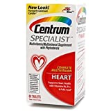 Centrum Complete Multivitamin, Heart, Tablets 60 ct (Pack of 4)