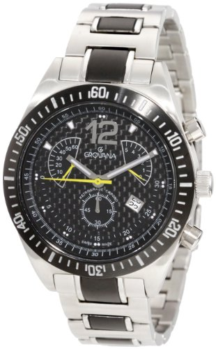 Grovana Men's 1620.9178 Complication Sport Analog Black Watch