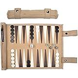 Sondergut Roll-up Suede Backgammon Game Cream
