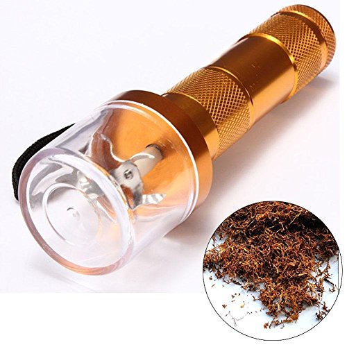 Electric Allloy Metal Grinder Crusher Crank Tobacco Smoke Spice Herb Muller Gold