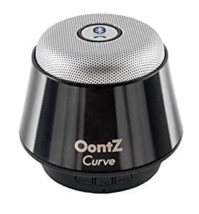 OontZ Curve Bluetooth Speaker Ultra Portable Wireless Full 360 Degree Sound with Built in Speakerphone works with iPhone iPad tablet Samsung and smart phones -Titanium Black