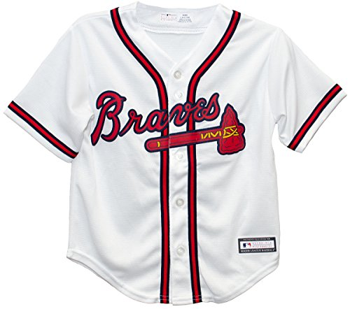 Outerstuff Atlanta Braves Home Cool Base Preschool Jersey (kids medium 5/6)