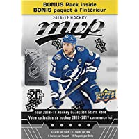2018 2019 Upper Deck MVP NHL Hockey Series Unopened Blaster Box of 21 Packs with Chance for Rookies Plus #1 Draft Picks Cards and Blaster Exclusive Gold Scripts
