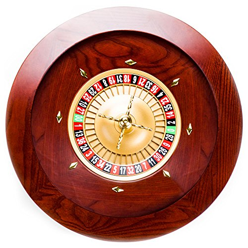 "Brybelly Casino Grade Deluxe Wooden Roulette Wheel, Red/Brown Mahogany, 19.5"" from Brybelly"
