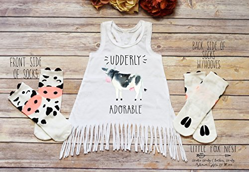 Cow Dress, Farm Dress, Farm Birthday, Udderly Adorable
