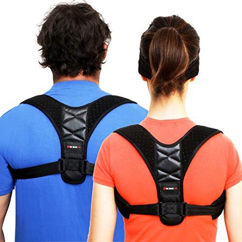 Comfort Posture Corrector for Women & Men -Large- Back Straightener Posture Corrector -Slouch Corrector Clavicle Shoulder Support Back Brace Posture Body Wellness Neck Back Pain Relief FDA Approved