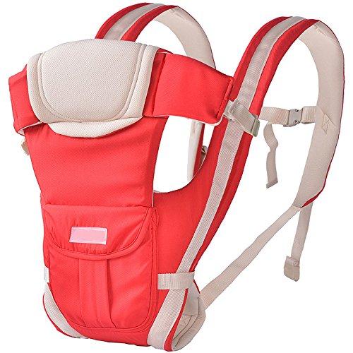 ThreeH Porte-b/éb/é Sac /à dos ergonomique pour b/éb/és et tout-petits BC06,Red
