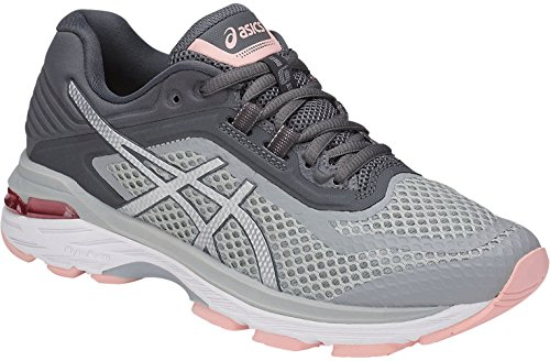 ASICS Women's GT-2000 6 Running Shoes, Mid Grey/Silver/Carbon 7.5 by ASICS