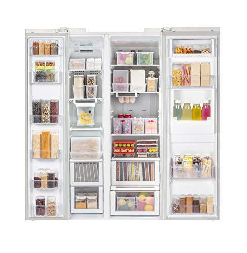 Silicook Flat Plastic Box for Kitchen for Kitchen&Refrigerator Organization, Transparent Food Storage Container for Kitchen, Fridge, Freezer (5 x 300ml)