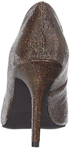 Argent TOZZI Femme Bronze du Chaussures Metall Pieds MARCO 22405 Talons Couvert à 968 Avant AZZvxf