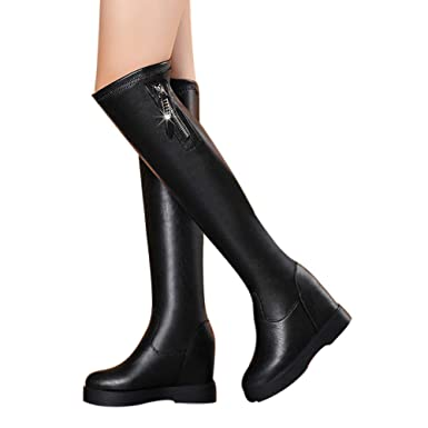 Ladies in Boots Waterproof Wedge Knee High Boots - OverDose Over The Knee  Boots Women Shoes 165dfb879afa