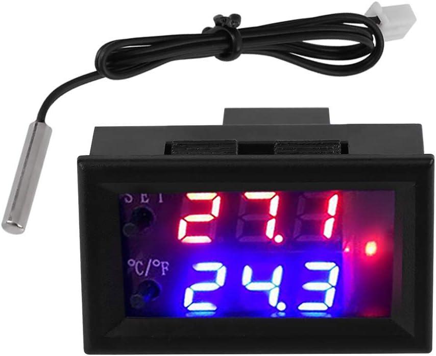 DC 12 V Pantalla Digital Microcomputador Ajustable Termostato Electrónico Interruptor, Controlador de Temperatura, Inteligente con Sonda de Sensor, A Prueba de Agua NTC
