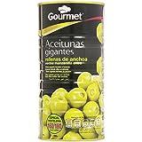 Gourmet - Aceitunas gigantes rellenas de anchoa - Verde manzanilla extra - 600 g