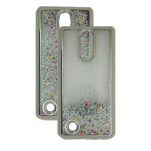 Phone Case Tracfone LG Rebel 3 Prepaid Smartphone, Glitter Liquid Clear TPU Case (Silver) -  Wireless