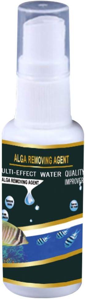 WARMWORD Acuario ecológico Aqua Life Purificador de Crecimiento de Algas Filtración Ultra Fuerte Limpieza Aclaración Agua Barro Verde Eliminación Removedor 30ML