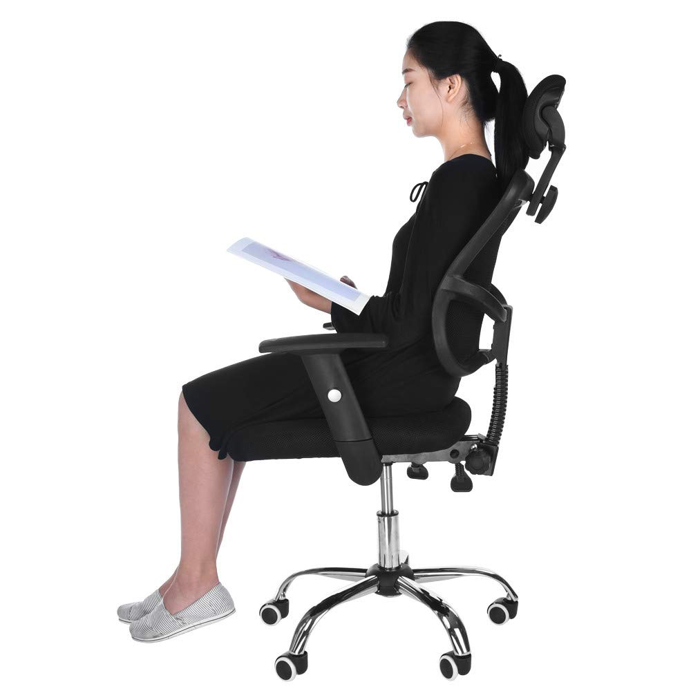 Lavany Home Office Chair for Task/Desk Work,Mesh Gaming Chair Liftable Computer Task Chair,US Tock (Black-A)