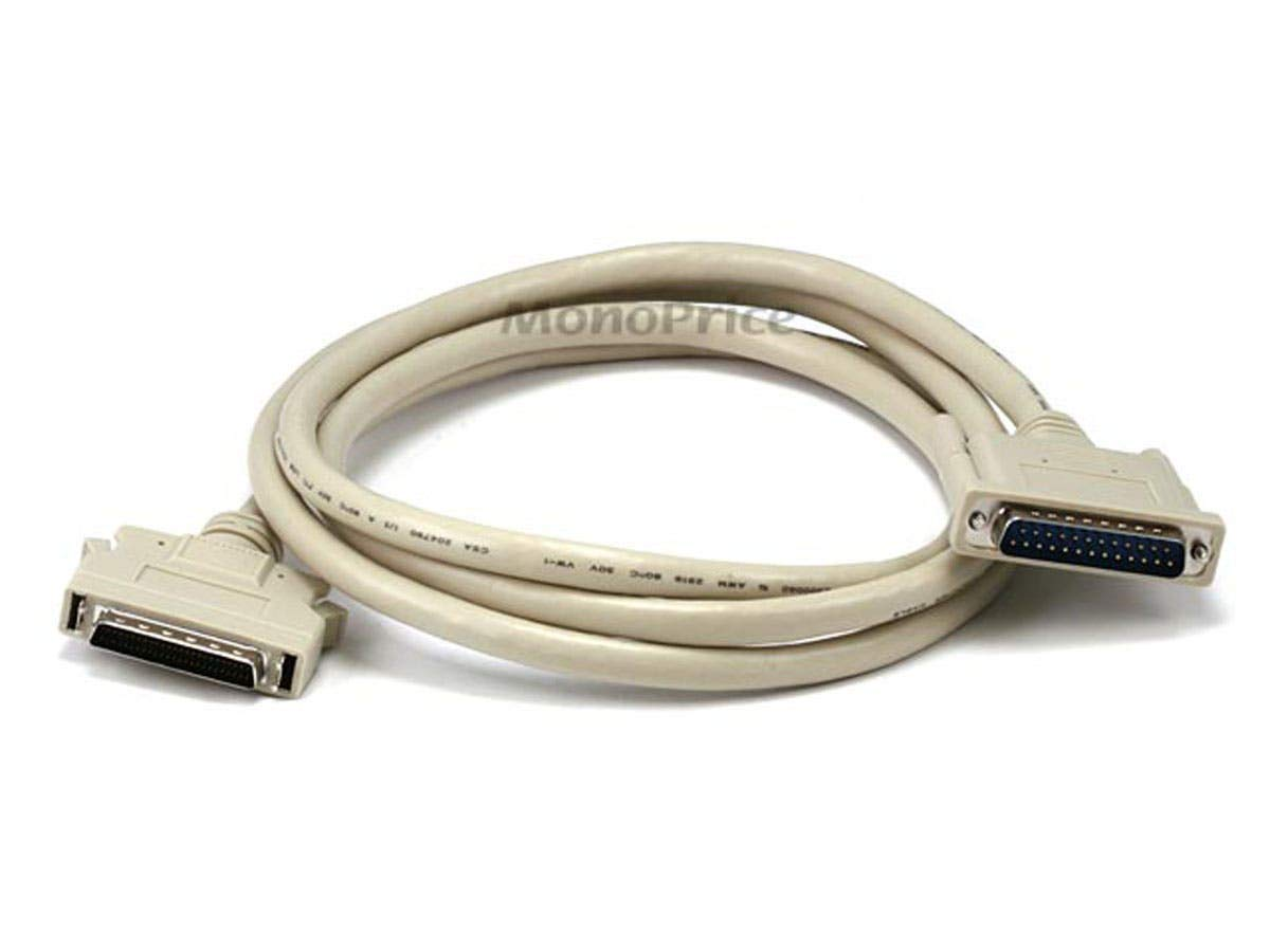 Monoprice 100749 6-Feet HPDB50 M/DB25 M SCSI Cable Molded (100749) by Monoprice