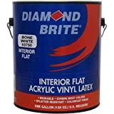 Diamond Brite Interior Flat Latex Enamel Paint, Bone White Gallon Pail 1/Case