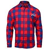 FOCO Buffalo Bills Large Check Flannel Shirt - Mens Extra Large