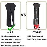 Patio Heater Cover Waterproof with Zipper, Standup