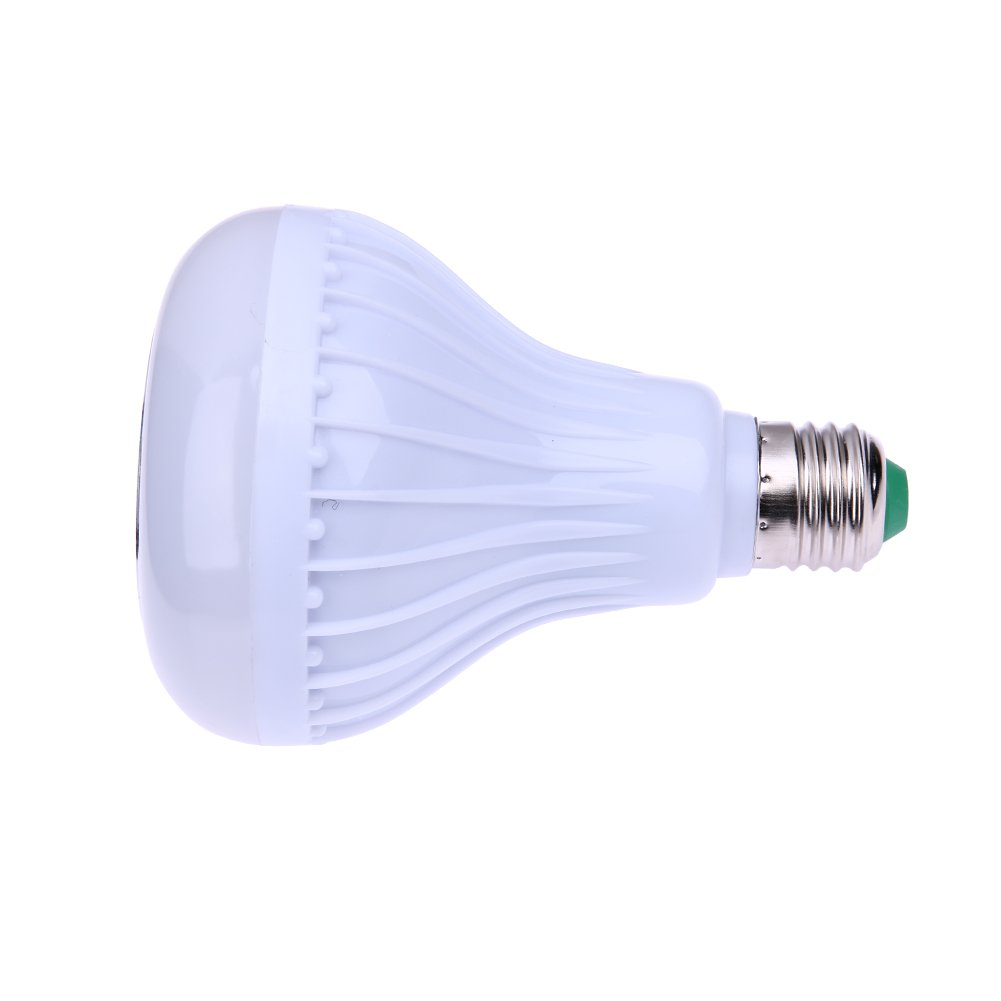 UEB Smart LED Light Bulb, Smart 12W E27 LED Bluetooth 3.0 Speaker Music Bulb RGB Change with 24 Key Remote Controller