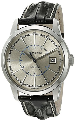 HAMILTON watch Railroad mechanical self-winding Date H40555781 Men's [regular imported goods]