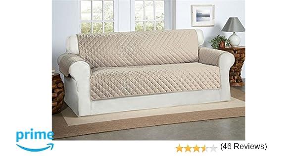 Safari Homeware Cubre Beige/Crema para Sofás de 3 Plazas - Protector para Sofás Muebles Acolchado de Lujo
