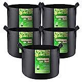 VIVOSUN 5-Pack 20 Gallon Plant Grow Bags, Heavy