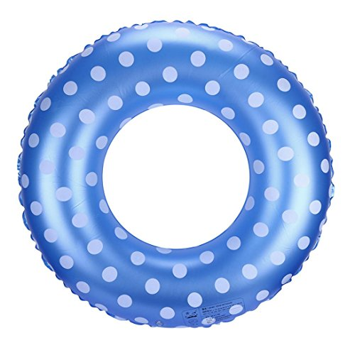 Leegor Premium Dots PVC Float Swimming Tube Ring Inflatable Beach Raft Boat Sea Toys Swim Pool Party Decor (60)