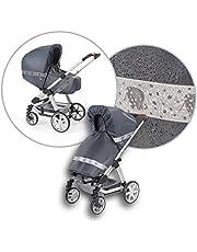 Regnskydd för barnvagnar, babyskål, buggy och sportbil från hjul