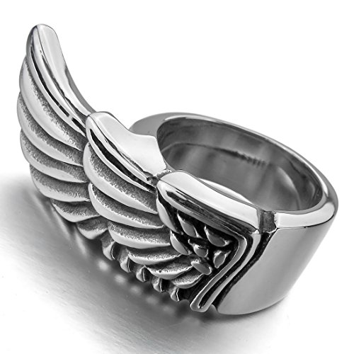 INBLUE Stainless Steel Silver Angel