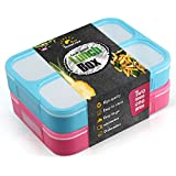 New Lunch Box For Adults teenagers and kids - Set of two for one price - leakproof - each contains one liter - simple to Wash & Carry - 3 compartments leakproof inside - video demonstration