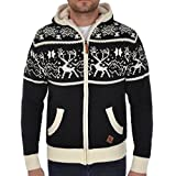Product review for Soul Star Mens Zip Up Hooded Christmas Cardigan