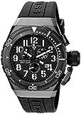 Swiss Legend Men's 'Trimix Diver 2.0' Quartz Stainless Steel and Silicone Watch, Color:Black (Model: 13842-BB-01)