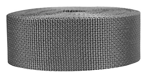 - Strapworks Lightweight Polypropylene Webbing - Poly Strapping for Outdoor DIY Gear Repair, Pet Collars, Crafts – 2 Inch x 25 Yards - Charcoal
