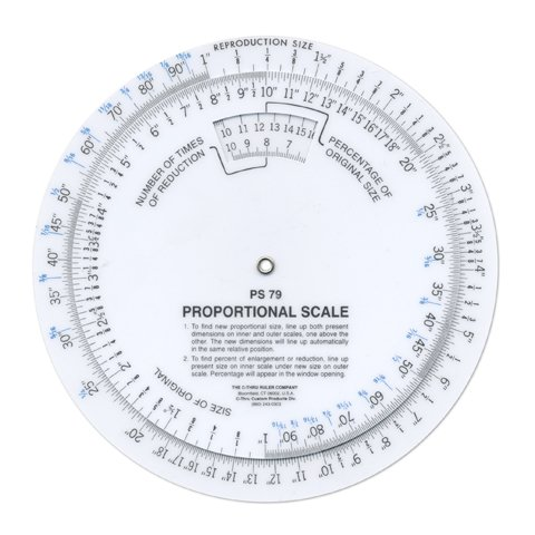 Proportional Scale (Better Crafts C THRU 6IN.PROPORTIONAL SCALE (1 pack) (0CTHPS-790))